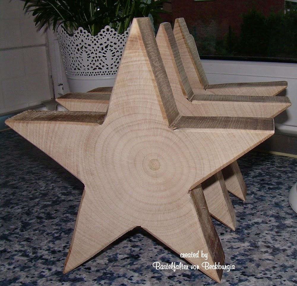 Bastelfalter von beckburgia holzsterne weihnachtsdeko for Holzarbeiten vorlagen