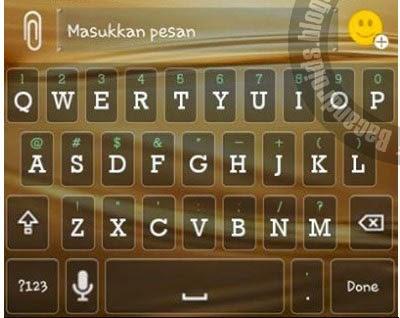 skins tema keyboard transparan untuk aplikasi BBM Mod