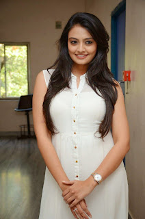 Actress Nikitha Narayan Picture Gallery in White Dress at Ladies and Gentleman Movie Press Meet 12.JPG