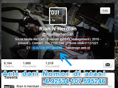 Nomor Lokasi di Twitter