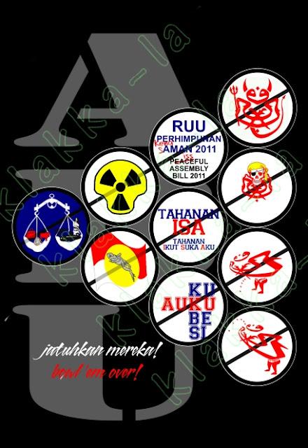 T-shirt Siri ABU: Jatuhkan mereka! (ABU Series T-shirt: Bowl 'em over!) www.klakka-la.blogspot