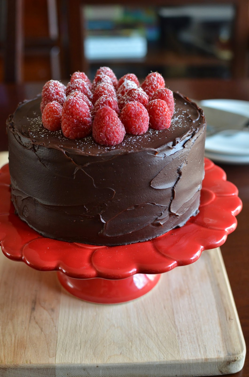 Playing with Flour: Chocolate raspberry layer cake