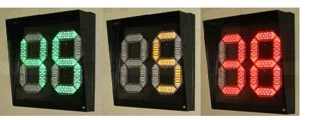 Hình ảnh đèn tín hiệu giao thông đếm ngược 3 màu xanh đỏ vàng 450