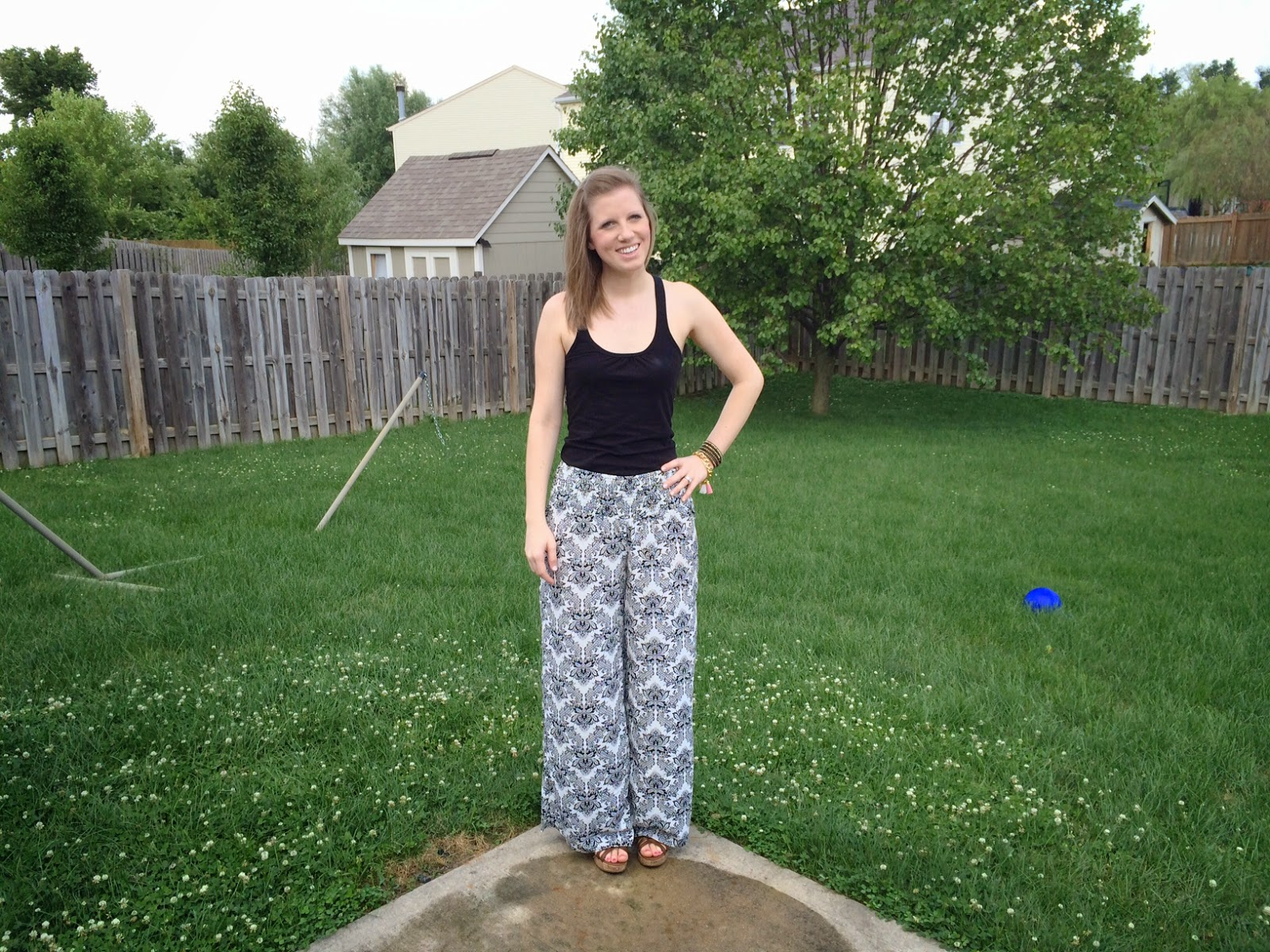 Black and White Outfit Of The Day - Palazzo Pants