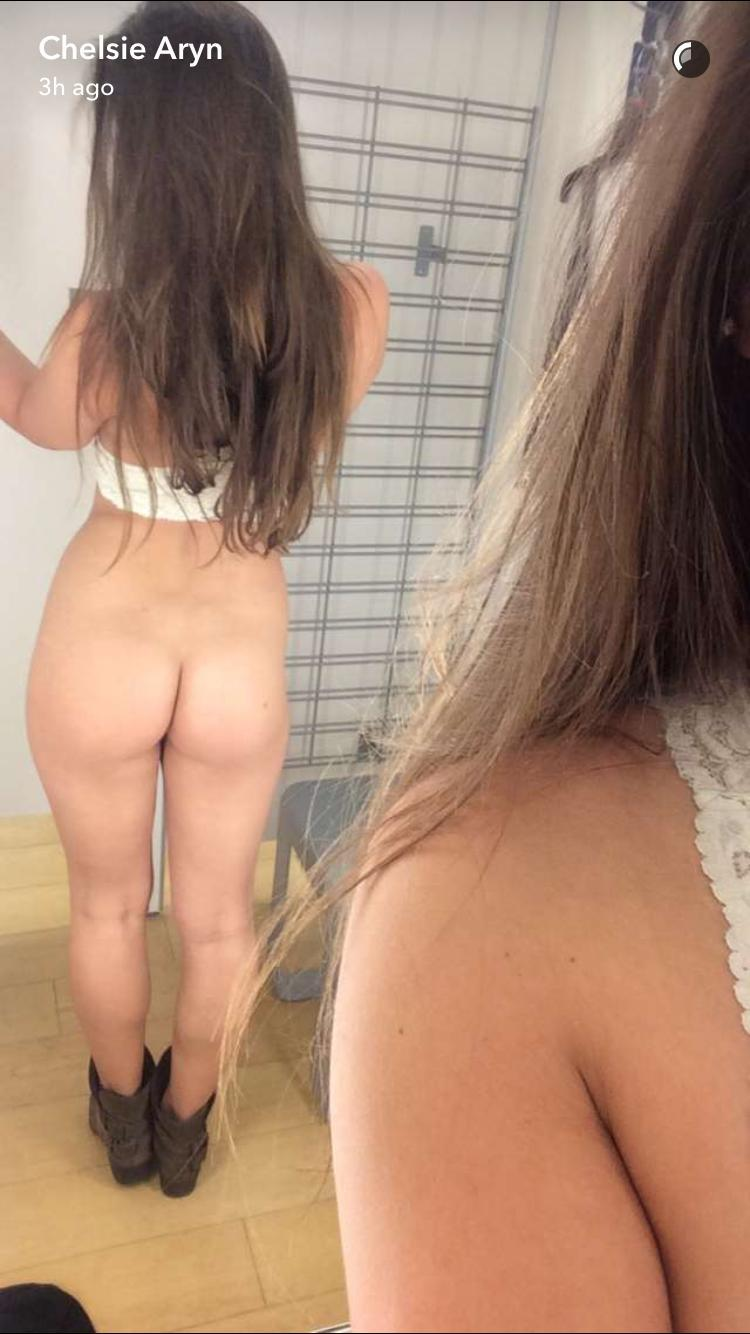 Chelsie Aryn shows naked ass