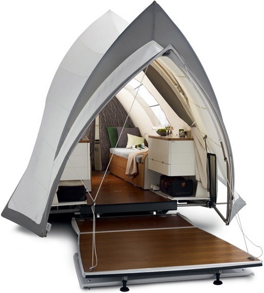 Folding into a low sleek tow-behind package the Opera C&er is like a pop-up luxury suite you can take with you anywhere. Elegant features include a ...  sc 1 st  coolpics & coolpics: 7 Coolest Tents Ever