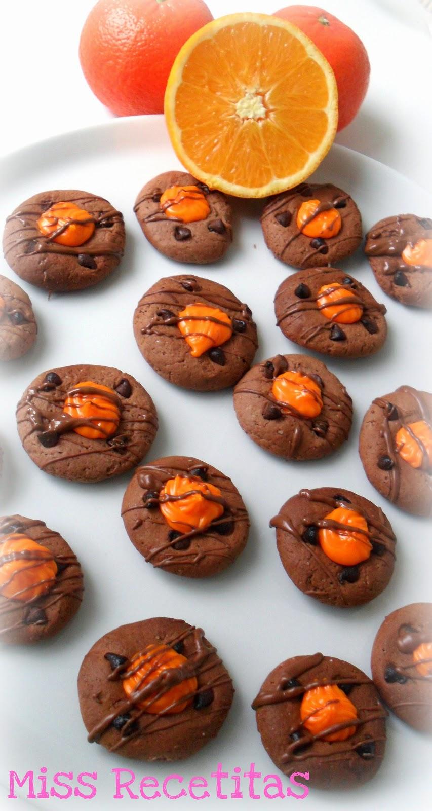 Galletas De Chocolate Con Corazon De Naranja