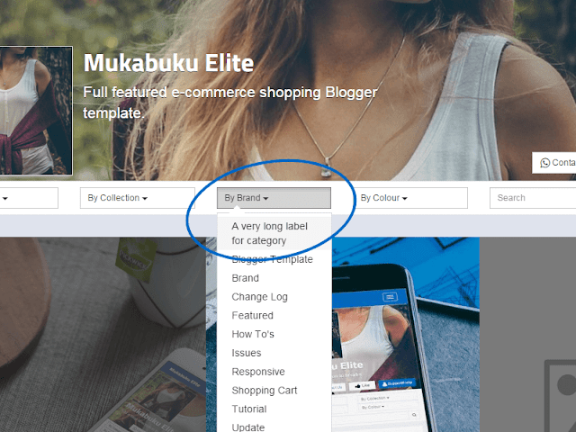 Blogger Shopping Store Template Label Dropdown Text Overflow Issue & Fixes