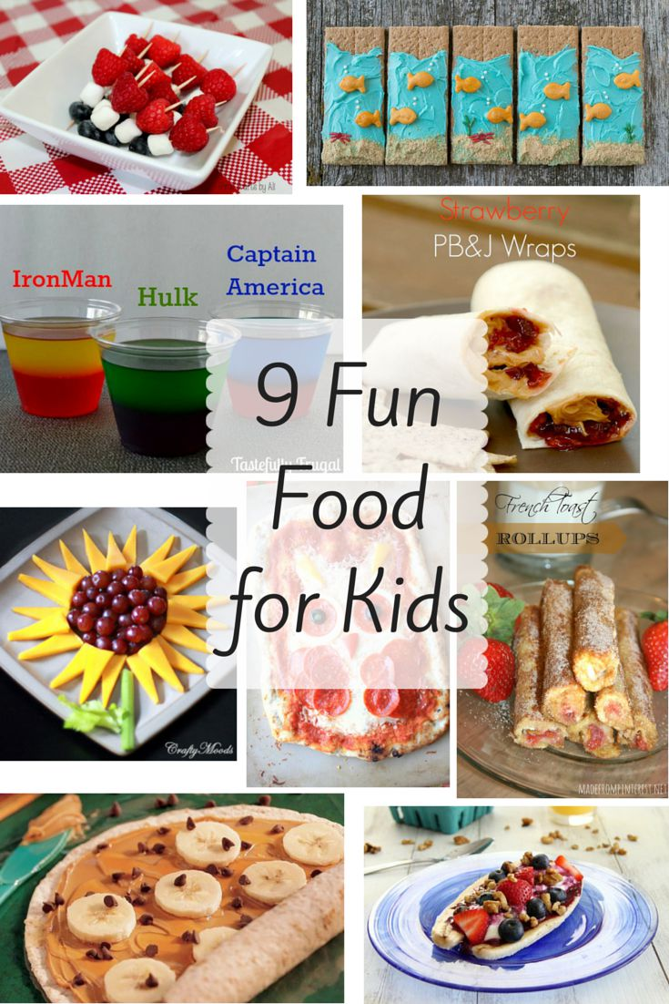 9 fun foods for kids home crafts by ali for Fun kid food crafts