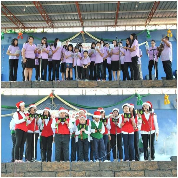 Lilin dengan persembahan dan pertandingan lagu-lagu dan drama Natal