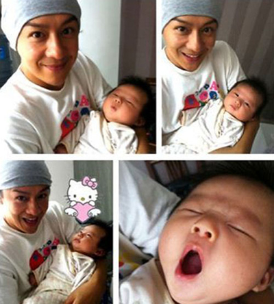 tvb celebrity news benny chan and his newborn son