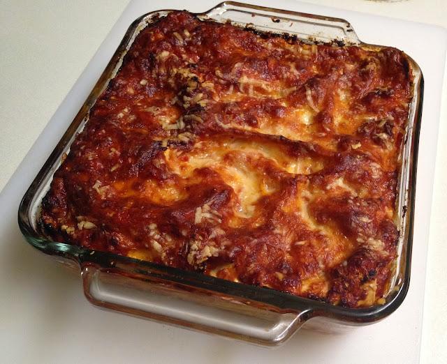 Lazy Man S Lasagna With Turkey Sausage Bolognese C H E W