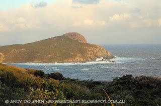 Stormy seas, Peak Head, Torndirrup, Albany, WA. Andy Dolphin.
