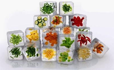 Los alimentos congelados pierden sus nutrientes