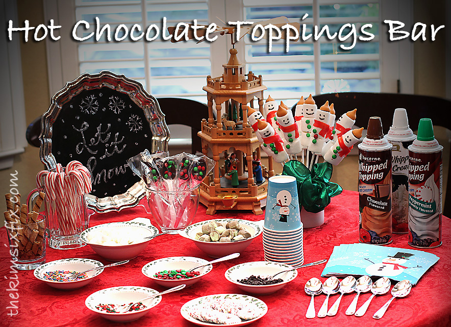 Cocoa and Cookies Party (Hot Chocolate Toppings Bar) - The Kim Six Fix