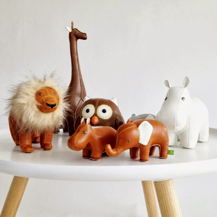 leather animals made by züny