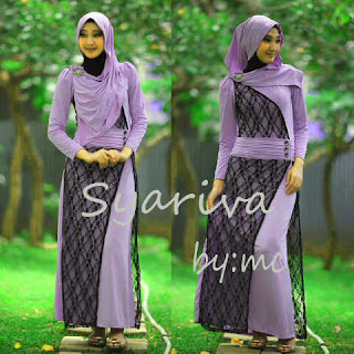 Syariva Maxi Dress + Pashmina