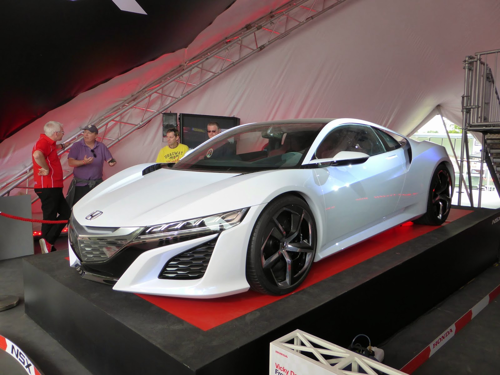 Honda NSX Concept on the main Honda stand