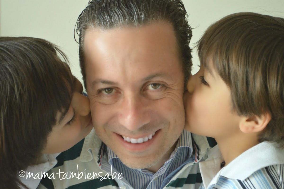 Este es el hombre al que amo, el mejor padre del mundo mundial!