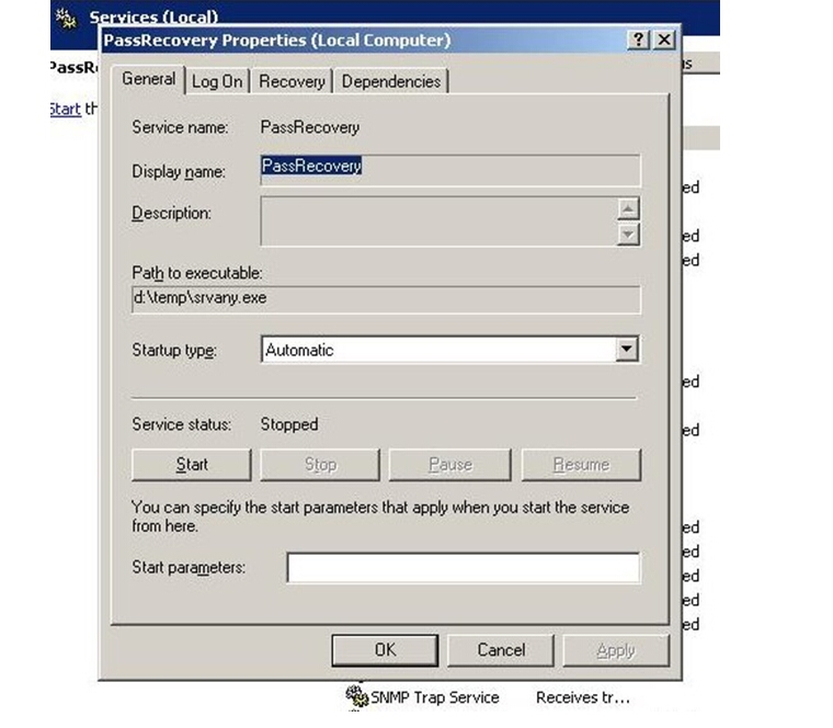hack windows server 2003 administrator password