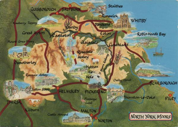 map of North York Moors