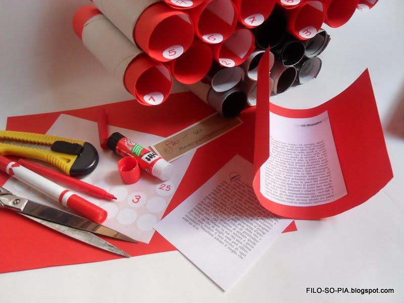 Rotoli Di Carta Colorata : Filo so pia albero avvento con i rotoli di carta igienica