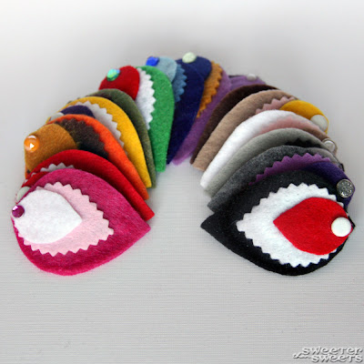 Mini Felt Fascinators by SweeterThanSweets on Etsy