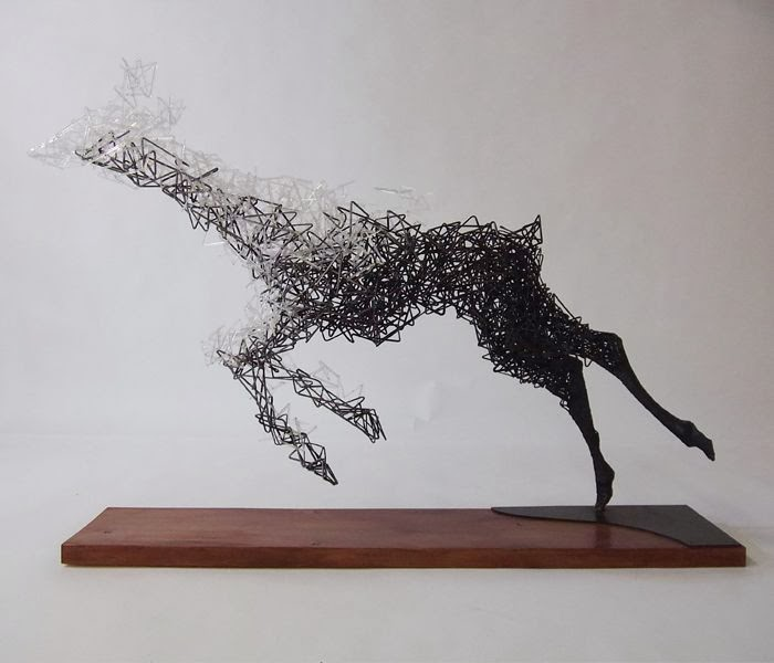 Simply Creative: Steel Wire Sculptures by Tomohiro Inaba