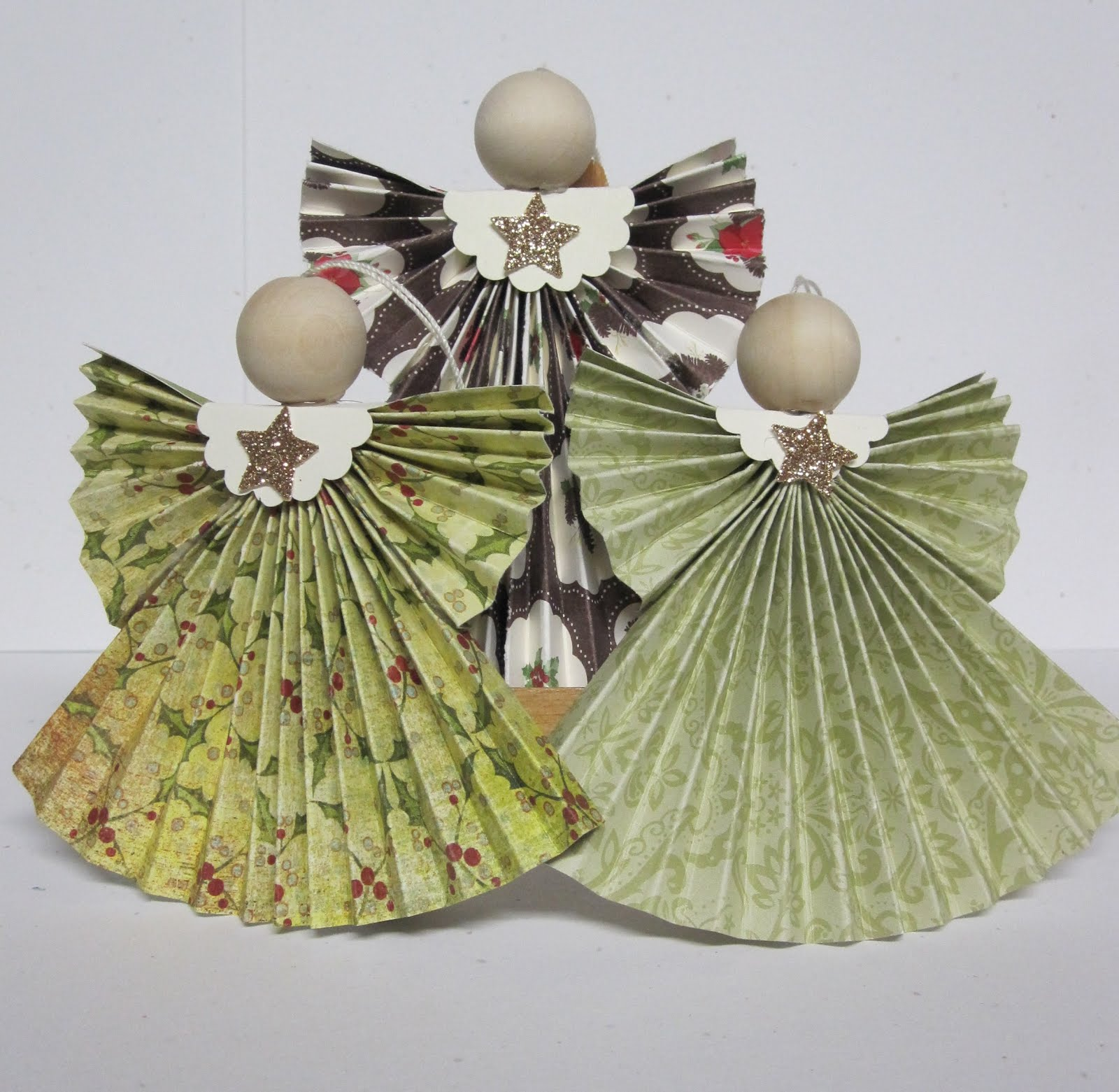 Uncategorized Paper Angel Crafts krafting with karen folded designer paper angels angels