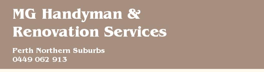 MG Handyman Testimonials