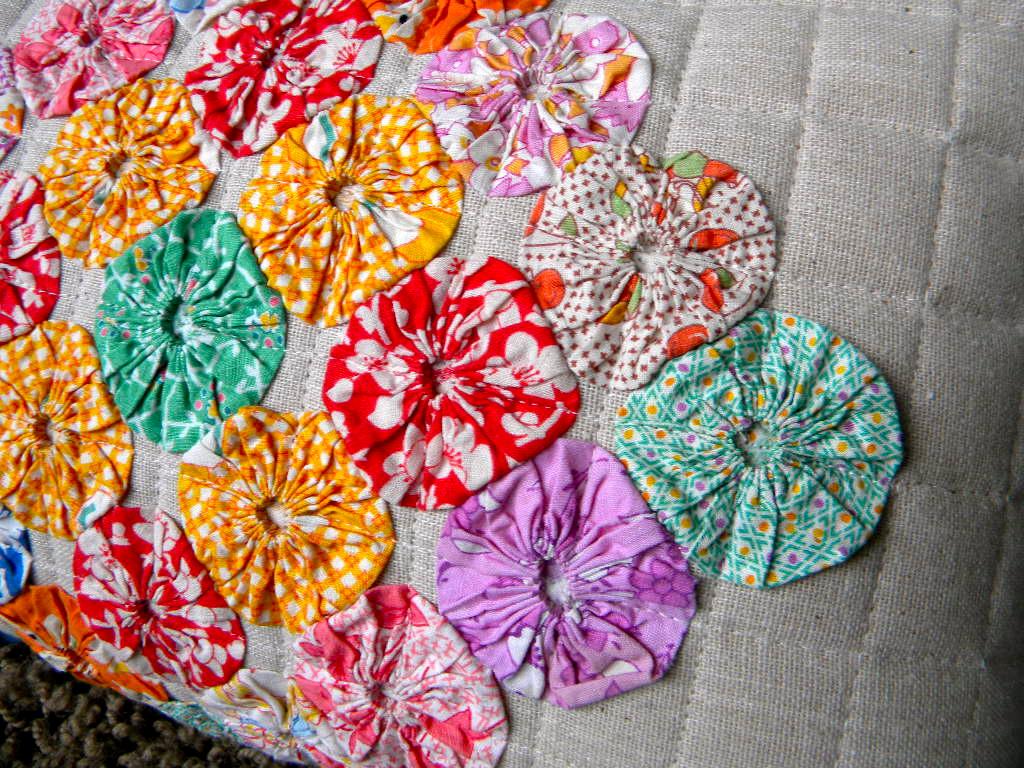 Sew Kind Of Wonderful Old Yo Yo Quilt Blocks