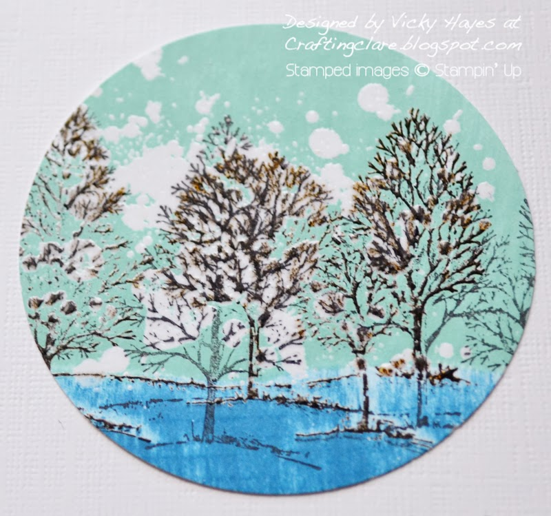 emboss resist scene made with Lovely as a Tree and Gorgeous Grunge from Stampin Up