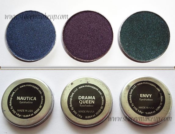 Makeup Geek Eyeshadows nautica, drama queen, envy