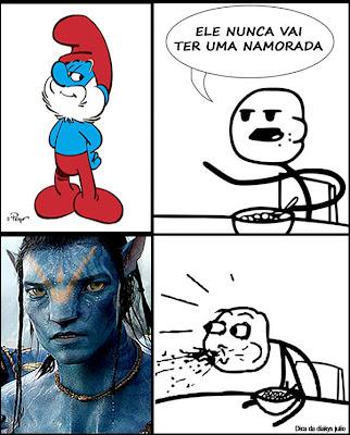 Smurf se transformou em Avatar e agora pode ter namorada