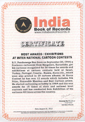 Most Awards in Cartoon Contests -India Book of Records-