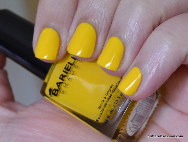 Barielle Lemon Drops swatch, Barielle Lemon Drops nail swatch