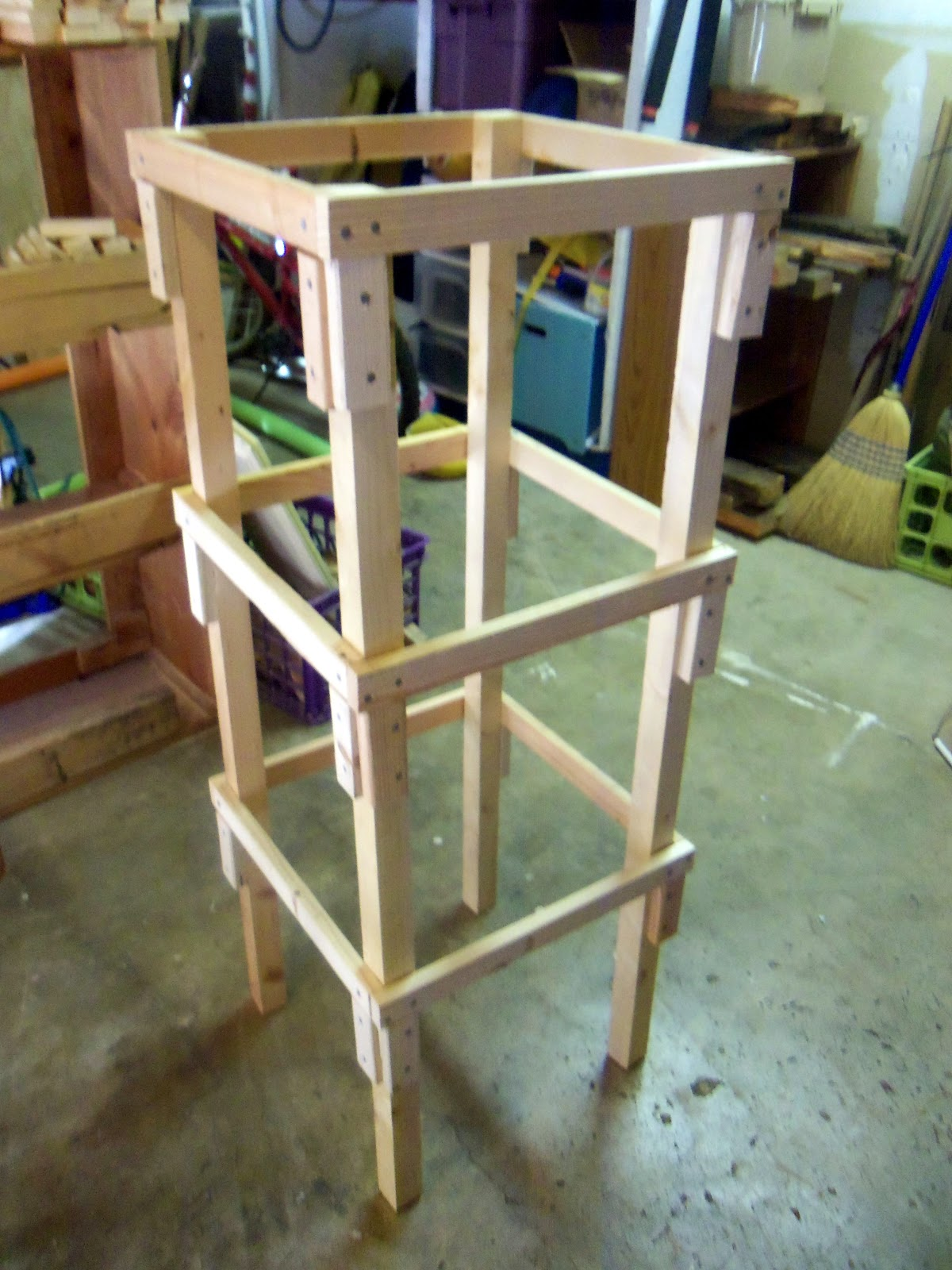 woodwork build wooden tomato cage pdf plans