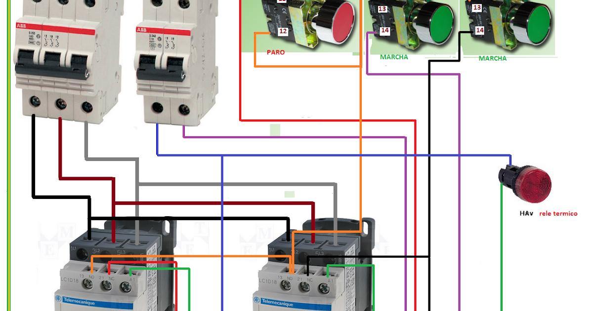 Extractor De Baño Sica:inversion de gioro de motor trifasico ~ Esquemas eléctricos