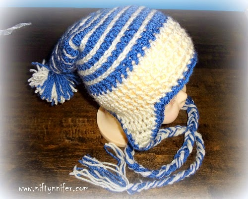 Free Crochet Pattern ~ Baby Ice Spiral Hat http://www.niftynnifer.com/2014/08/free-crochet-pattern-baby-ice-spiral-hat.html #Crochet #Crochetbaby #Crochethat