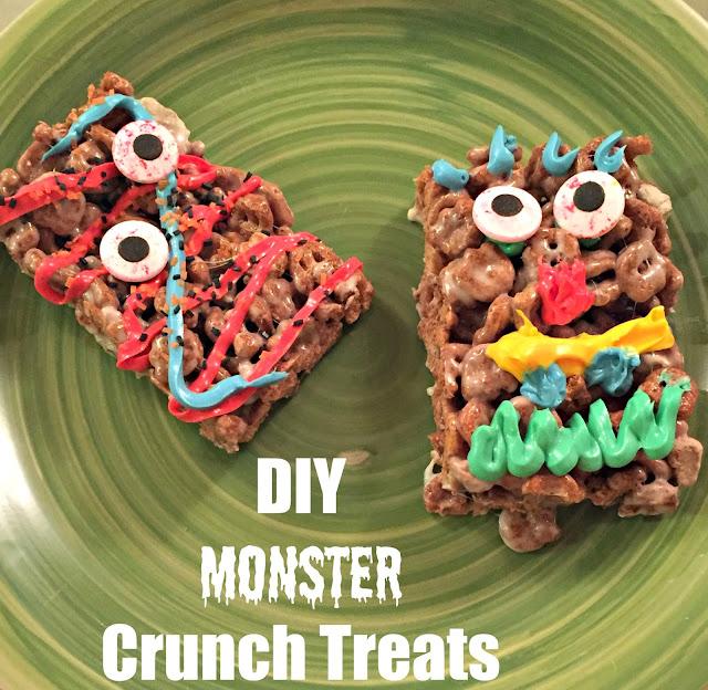 Cereal Donut recipe, baked donut recipe, cereal crispy treats, cereal bars, monster cereal bars, #spooktacularsnacks, #monstertreats