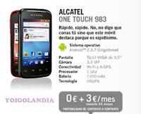 Alcatel One Touch 983 por 0€ más pago a plazos yoigo en febrero 2013