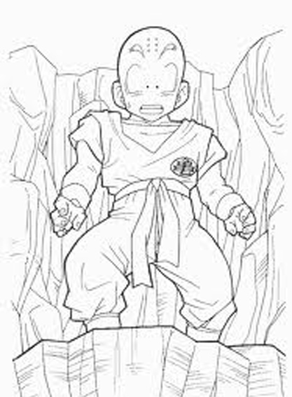 Free Krillin Dragon Ball Z Coloring To Print