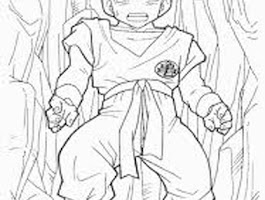 Dragon Ball Z Krillin Coloring Pages