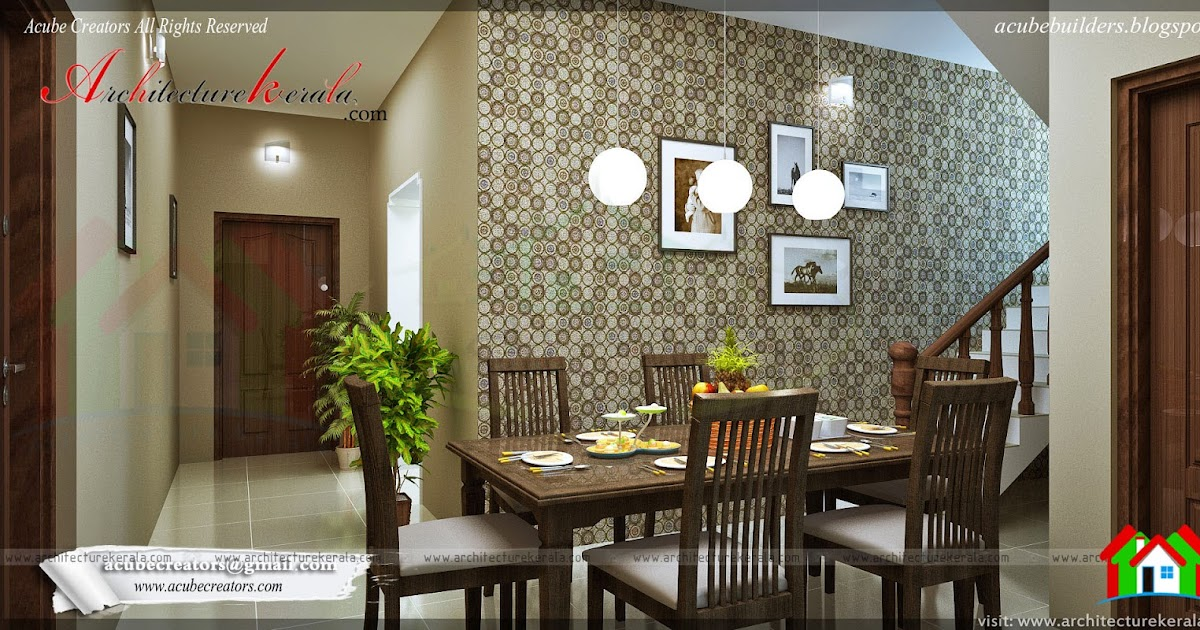 Dining room interior design architecture kerala for Dining room ideas in kerala