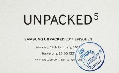 Samsung Galaxy S5 Unpacked Dijadwalkan Pada 24 Februari