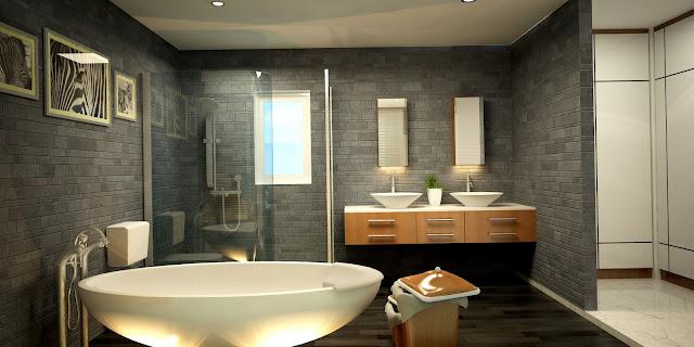 Nội thất sang trong trong nhà tắm, Riêng Bungalow CĐT thiết kế phòng tắm rất sang trong