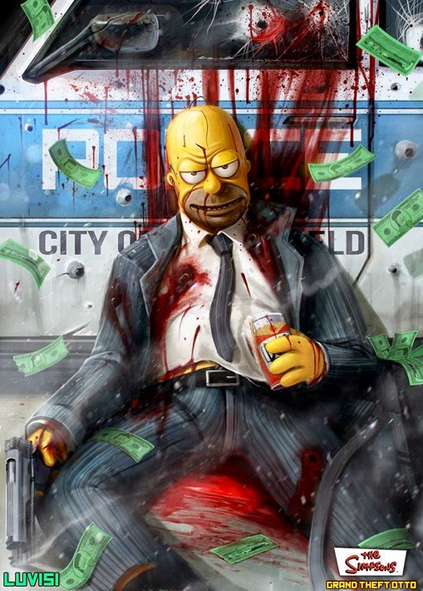 Homer Simpson mafioso
