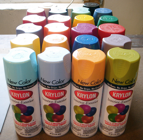 spray paint home depot per can used 6 cans plus one primer. Black Bedroom Furniture Sets. Home Design Ideas