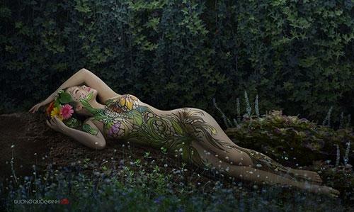 Ảnh gái đẹp sexy với body painting Phần 1 4