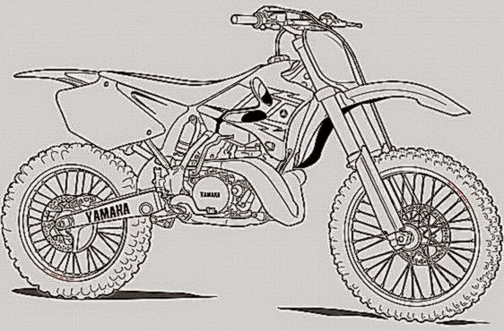 honda dirt bike coloring pages coloring pages